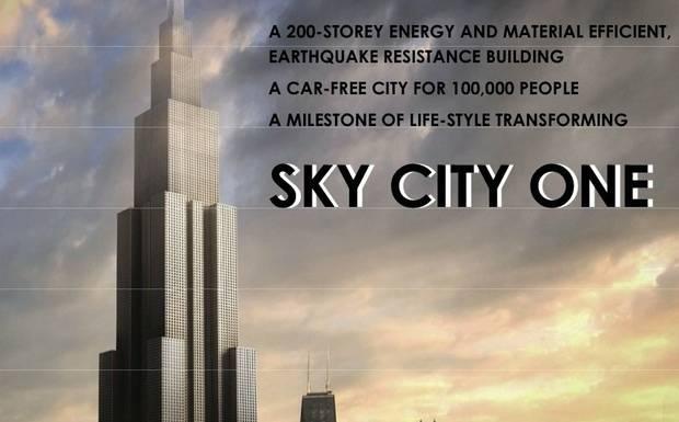Rascacielos Sky One se levantará en sólo noventa días
