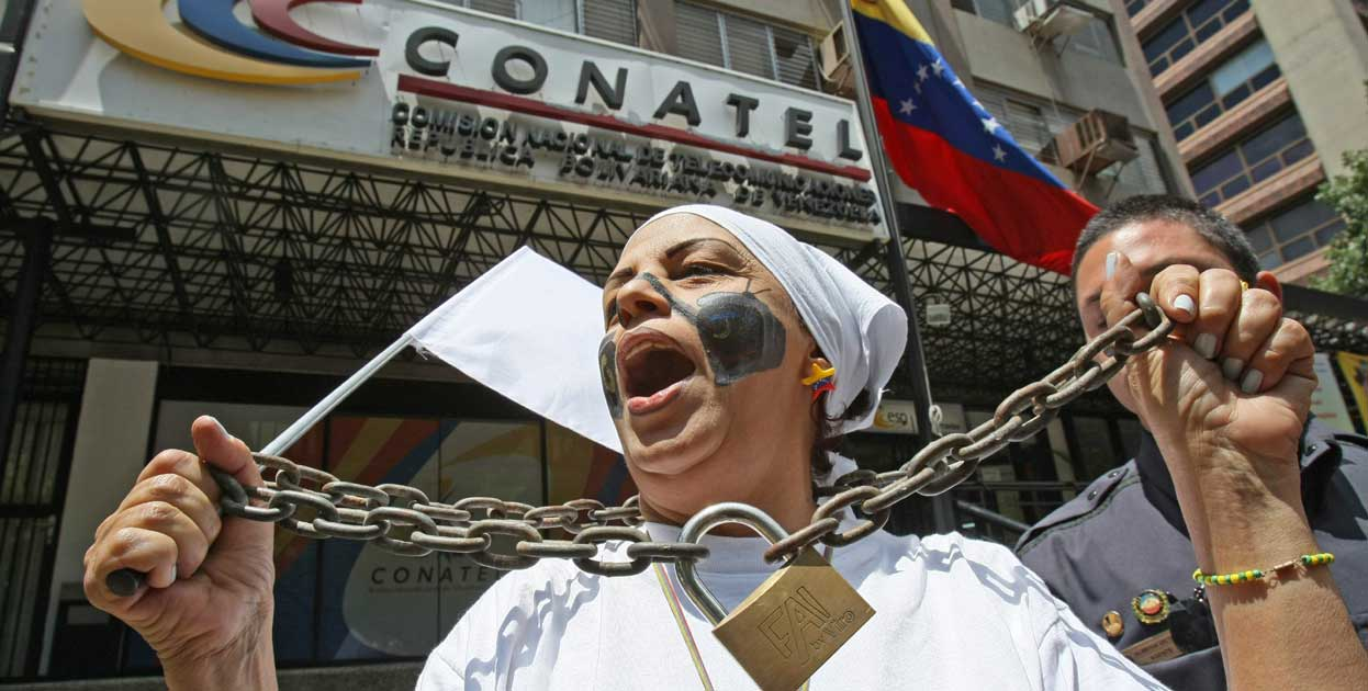 La prensa libre está presa en Venezuela