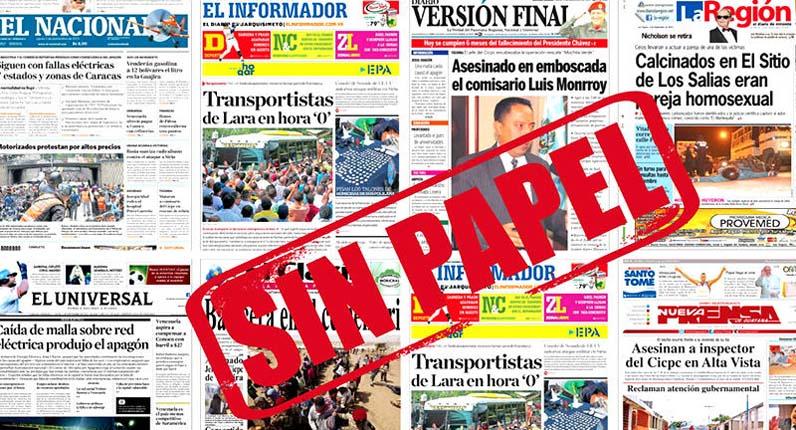 Siete diarios venezolanos han dejado de circular en los últimos cuatro meses